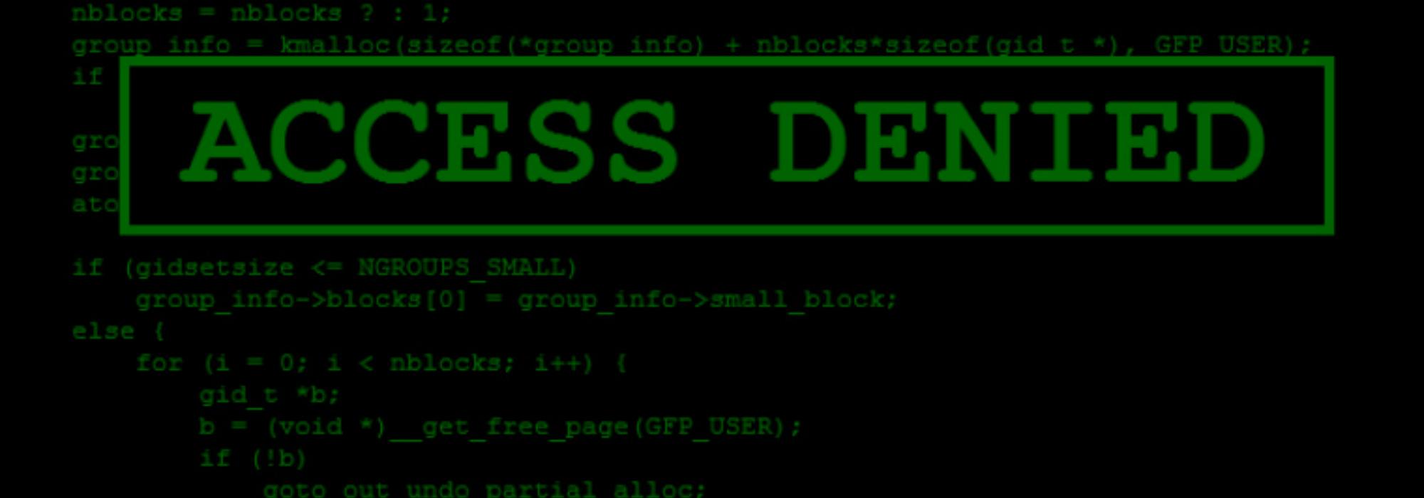 Access denied blog Banner